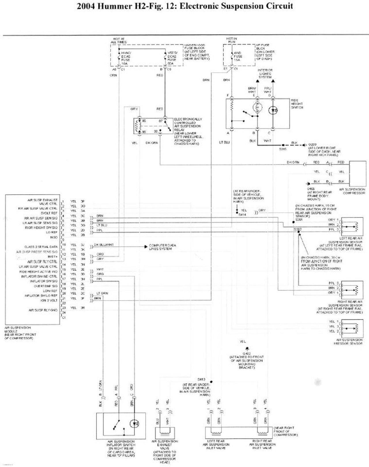 Электросхема пневмы Хаммера