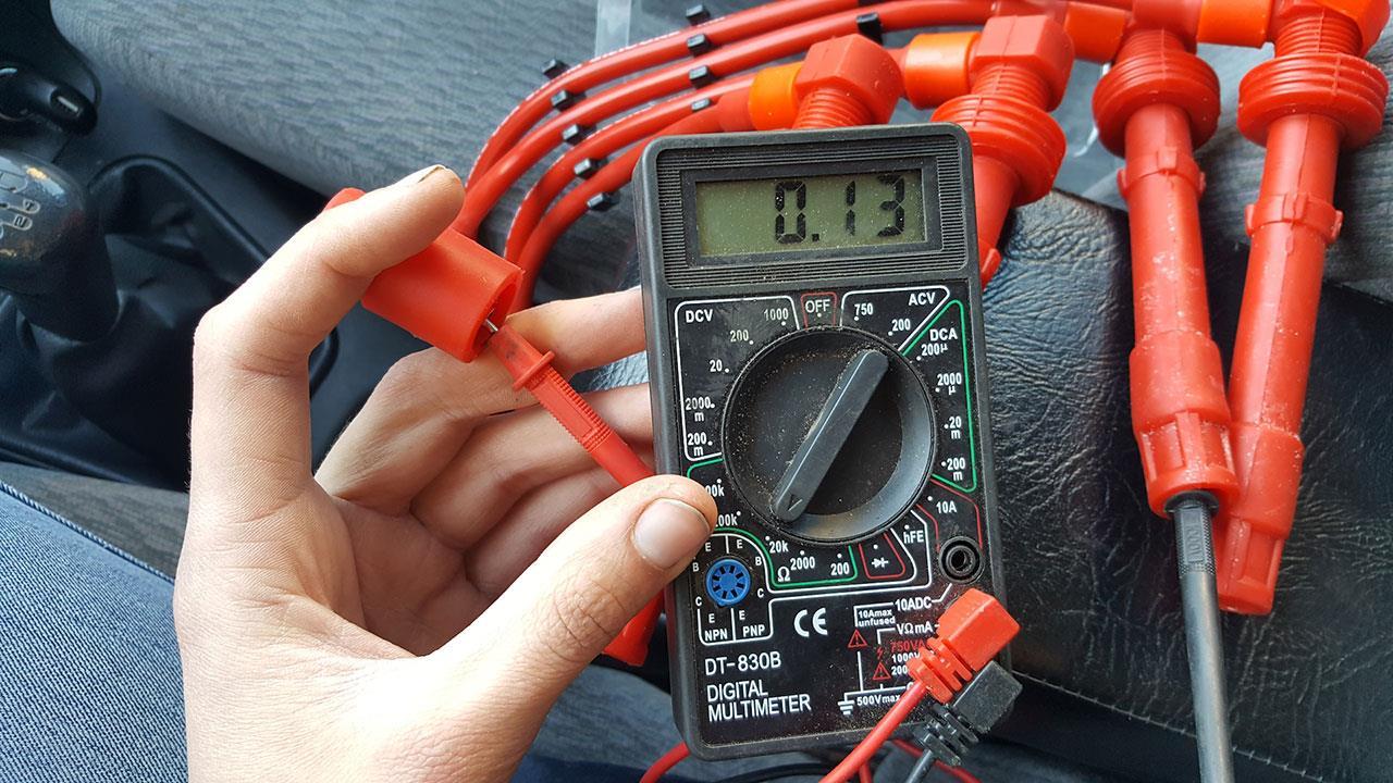 Проверка бронепроводов мультиметром