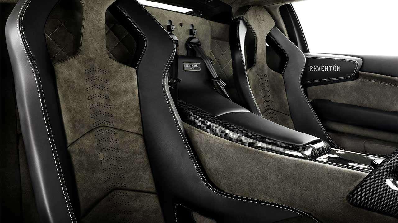 Фото сидений Lamborghini Reventon