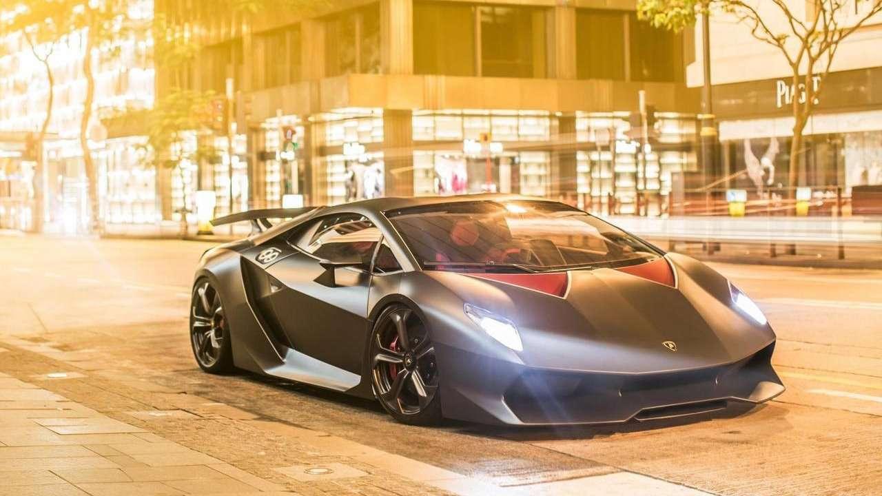 Lamborghini Sesto Elemento Concept фото спереди