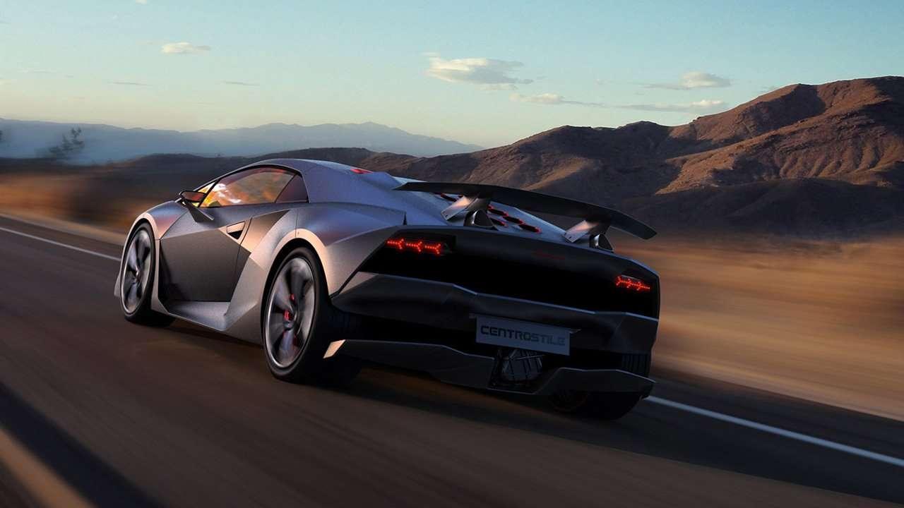 Lamborghini Sesto Elemento Concept фото сзади