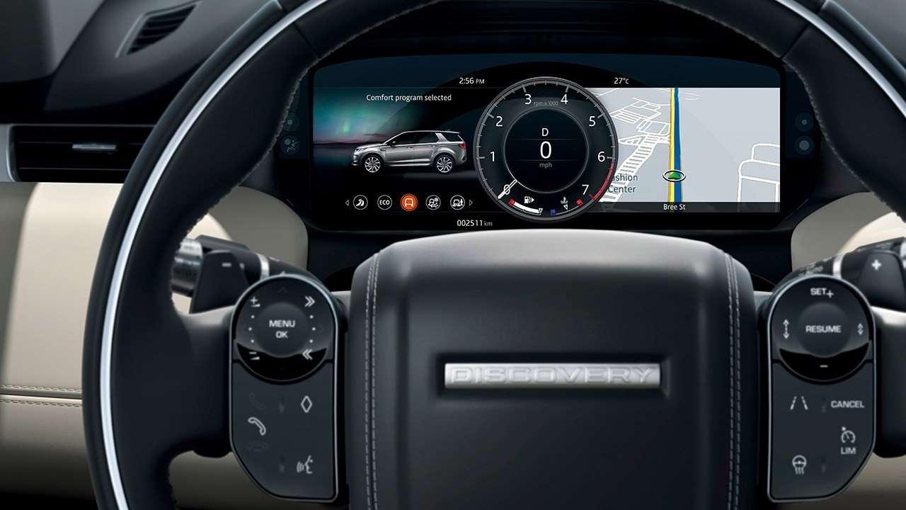 Руль и панель приборов Discovery Sport