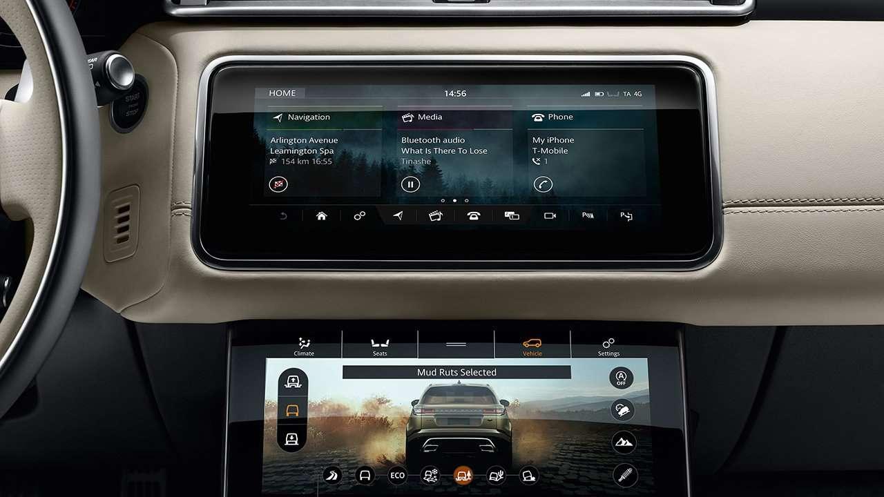 Range Rover Velar 2020-2021 фото центральной консоли