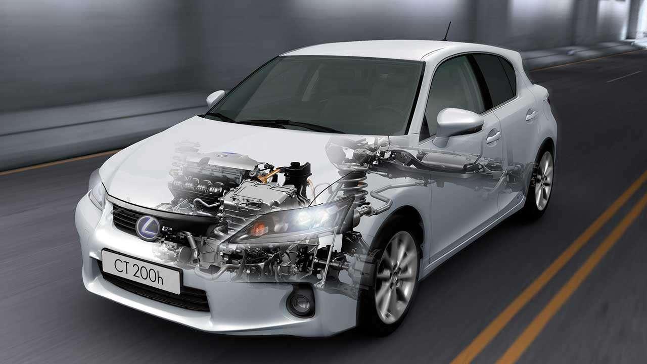 Lexus CT 200h в разрезе