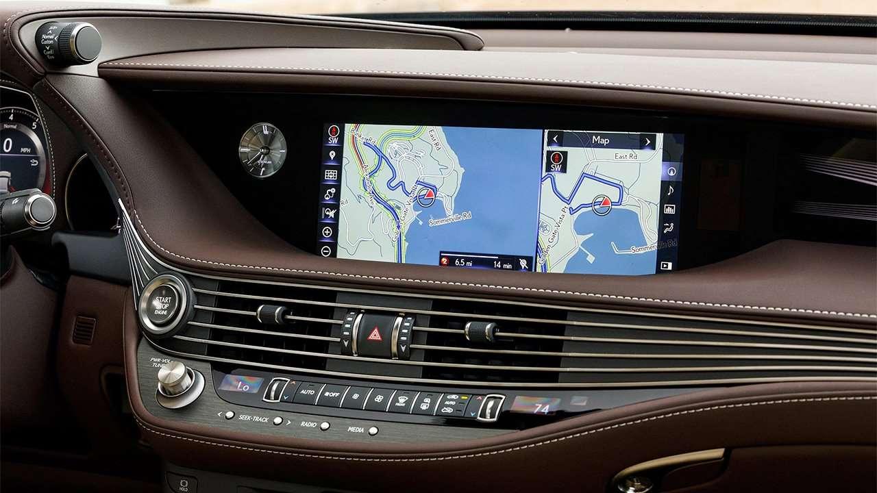 Центральная консоль Lexus LS 2020-2021