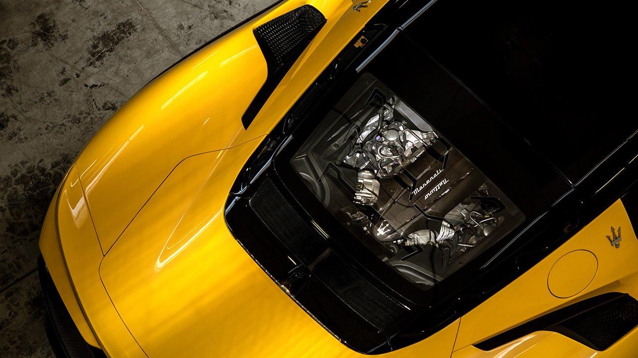 Фото нового двигателя Maserati MC20