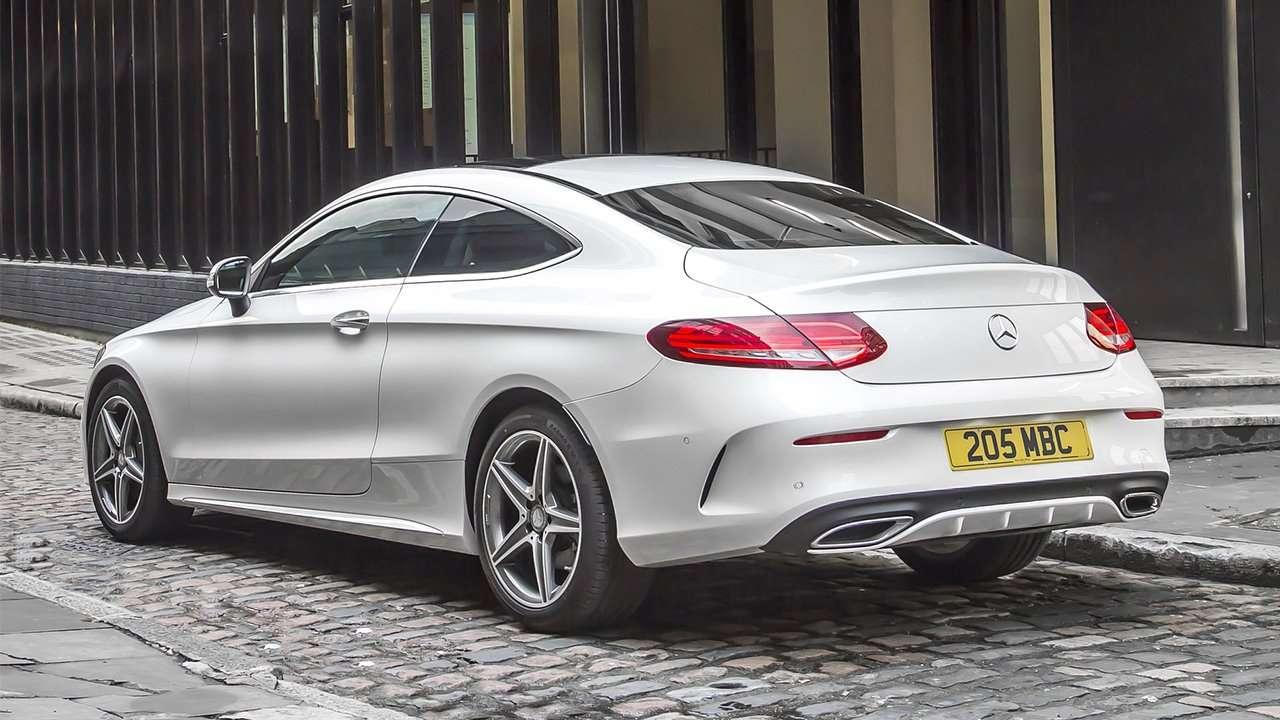 Задняя часть Mercedes C-Class Coupe 2019-2020
