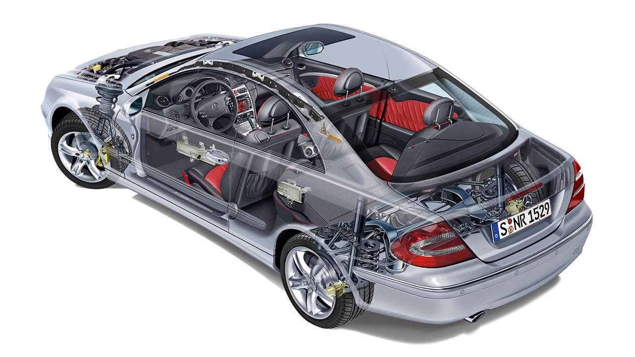 Подвеска и трансмиссия Mercedes-Benz CLK