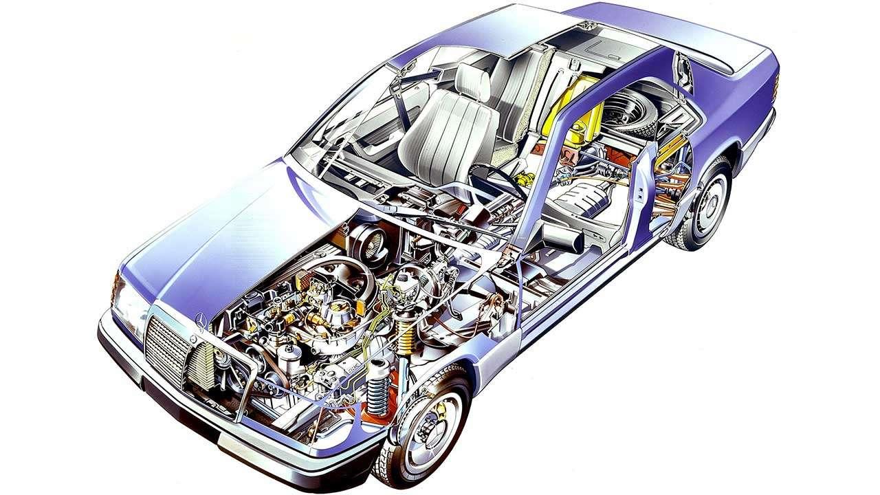 Мерседес Е-Класс W124 в разрезе