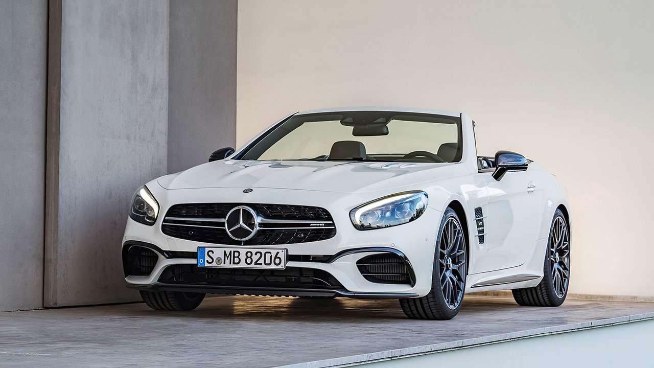 Фото белого Mercedes-Benz SL 63 AMG R231