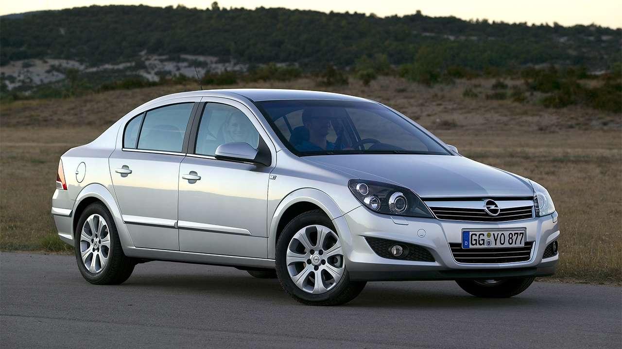 Передок седана Opel Astra H