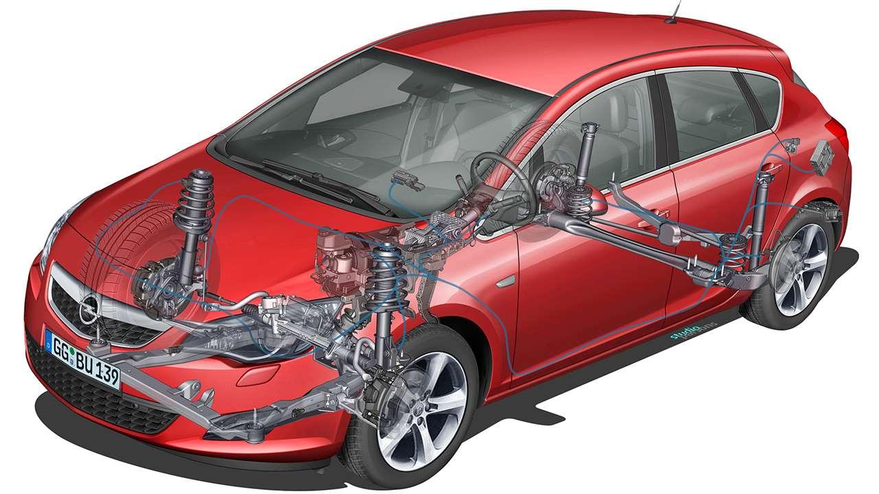 Схема подвески Opel Astra J