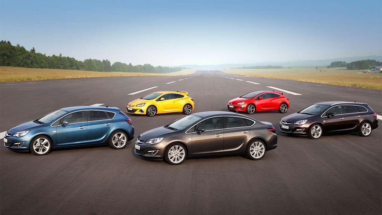 Все виды кузовов Opel Astra J