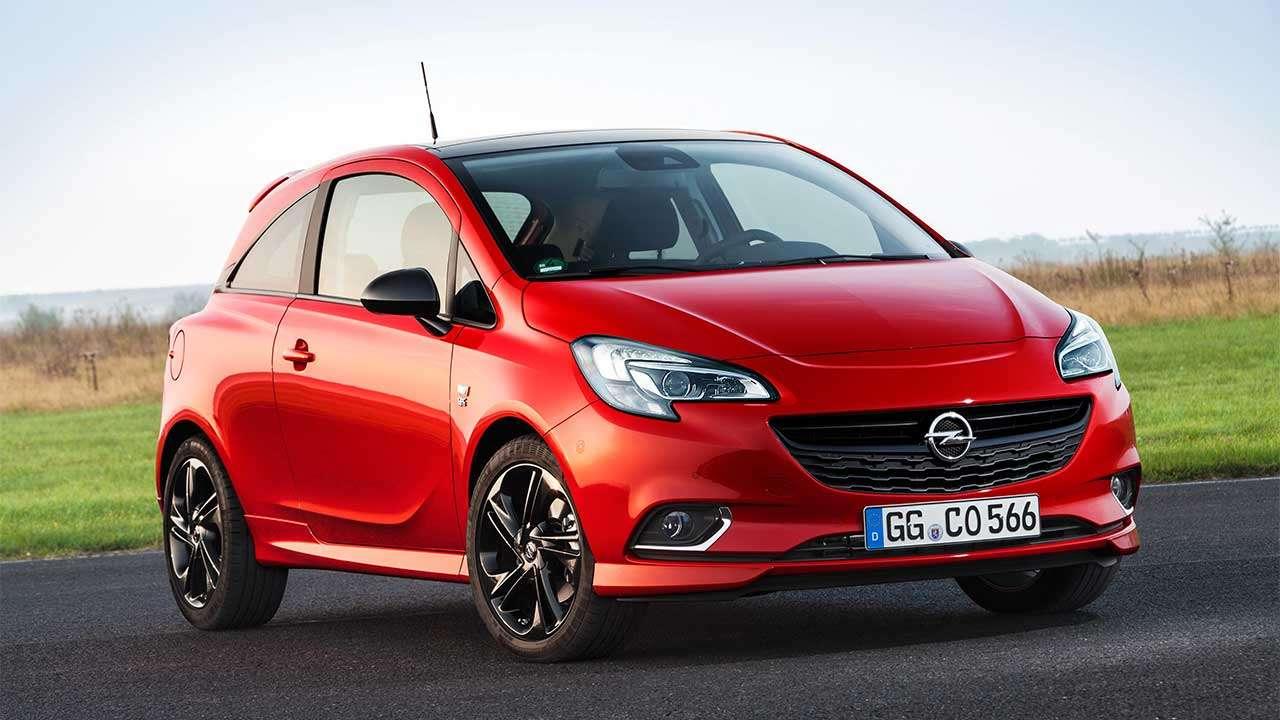 Фото красного Opel Corsa OPC E
