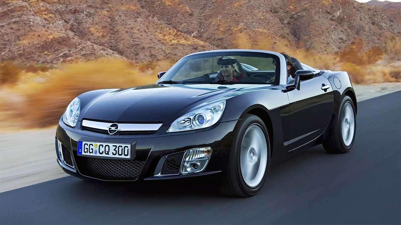 Фото черного Opel GT