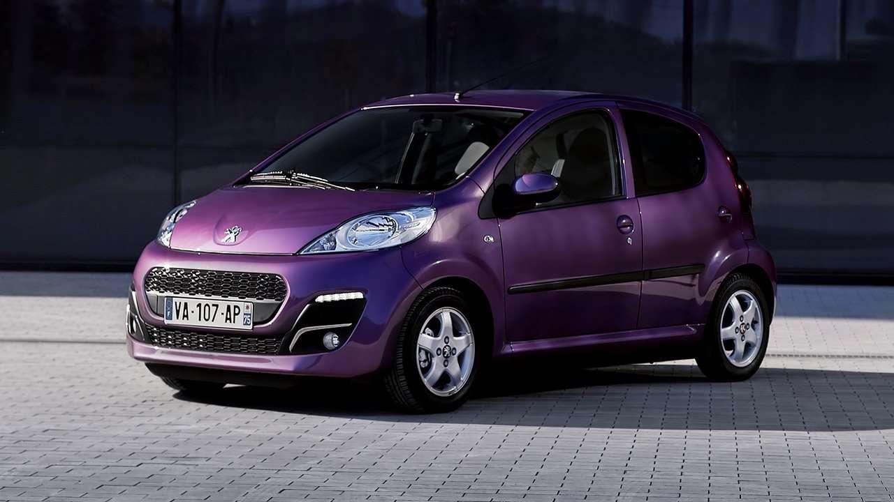 Peugeot 107 фото спереди