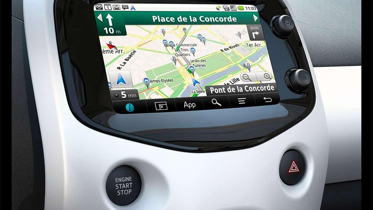 Дисплей мультимедиа Peugeot 108