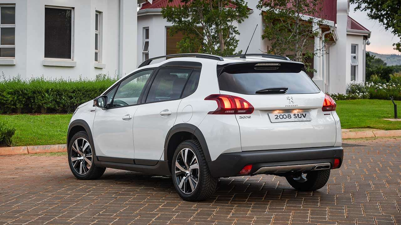 Корма белого Peugeot 2008 2014-2019