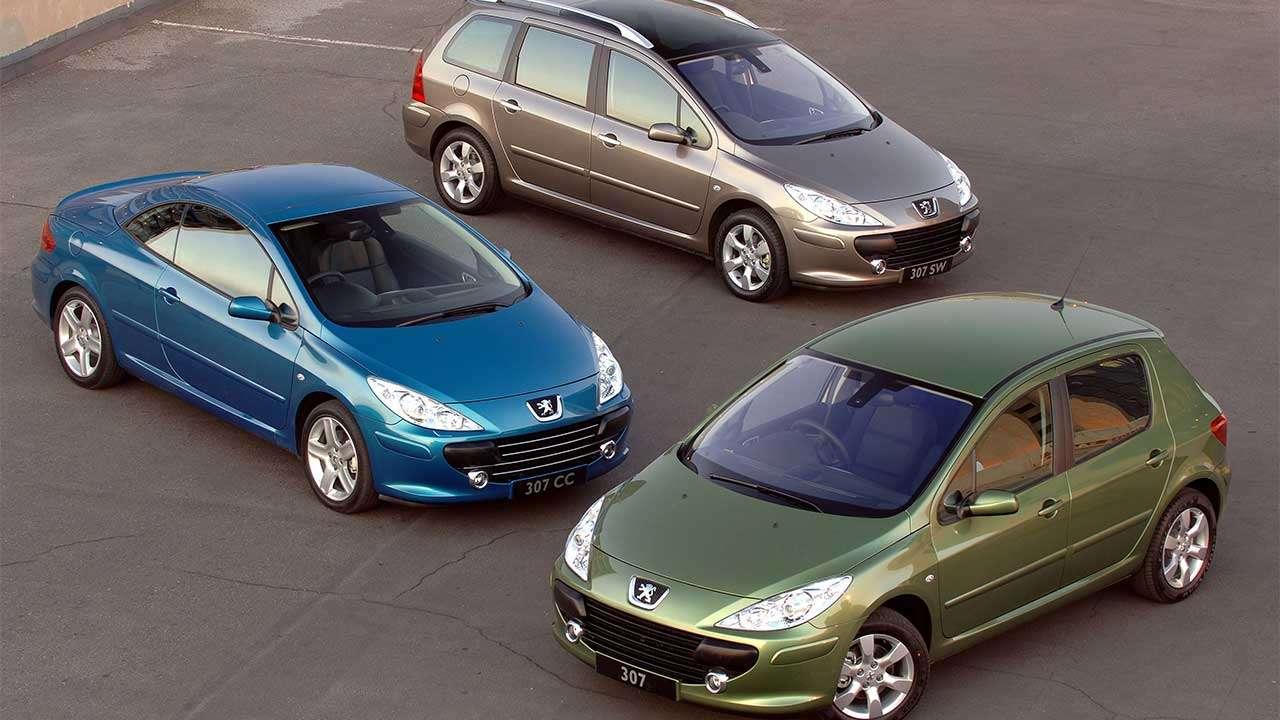 Три вида кузова Пежо 307