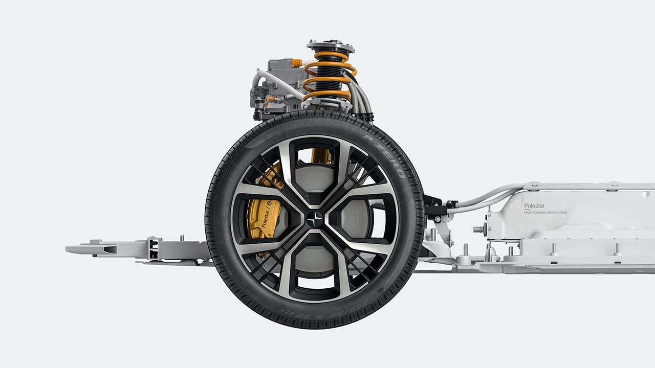 Тормоза и передняя подвеска Polestar 2