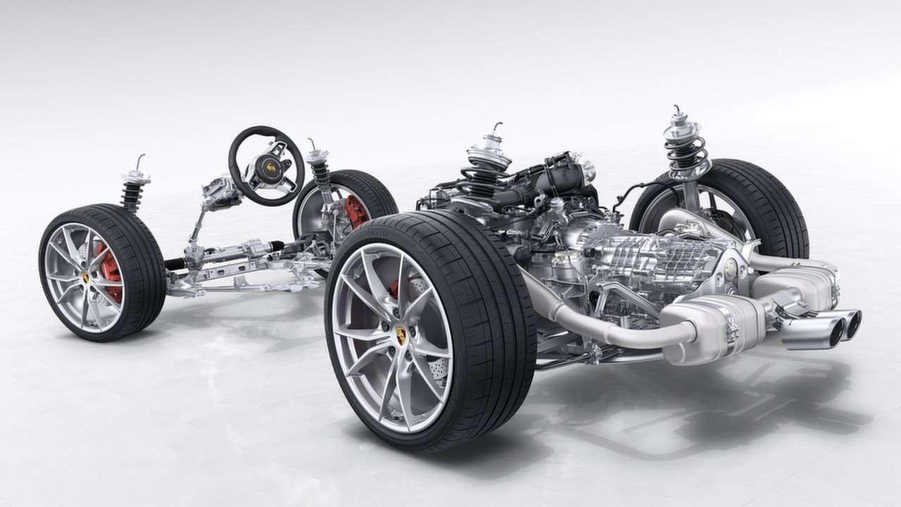 Схема подвески Porsche 718 Boxster