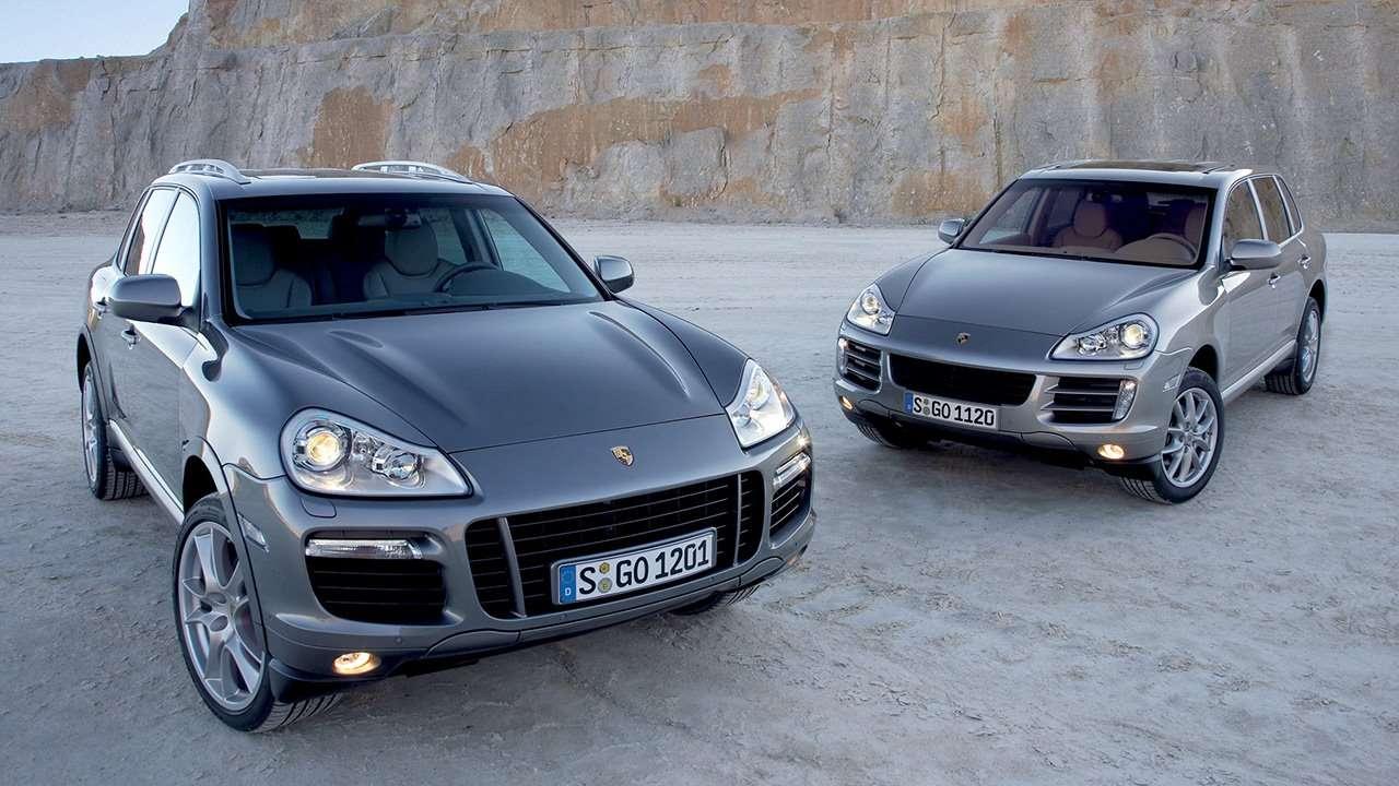 Два рестайлинговых Porsche Cayenne 957