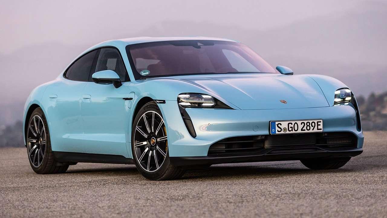 Porsche Taycan 2020-2021 фото спереди