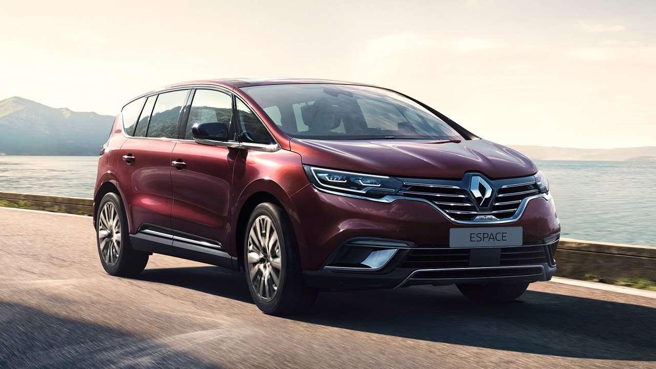 Красный минивэн Renault Espace 2020-2021