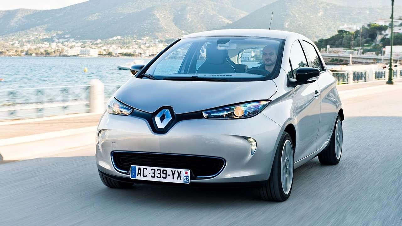 Renault ZOE фото спереди
