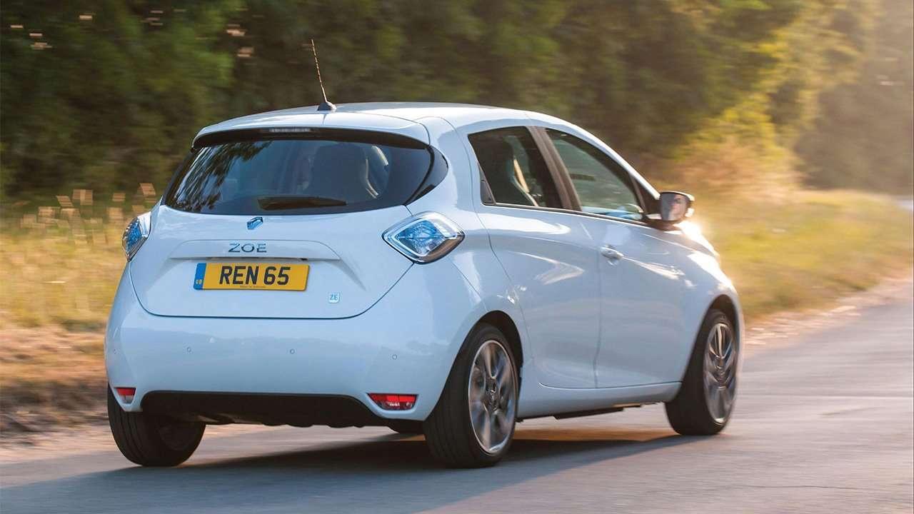 Renault ZOE фото сзади
