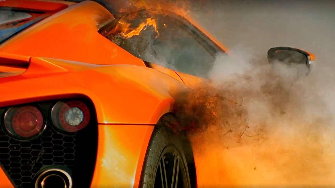 Горящий Zenvo ST1 в Top Gear