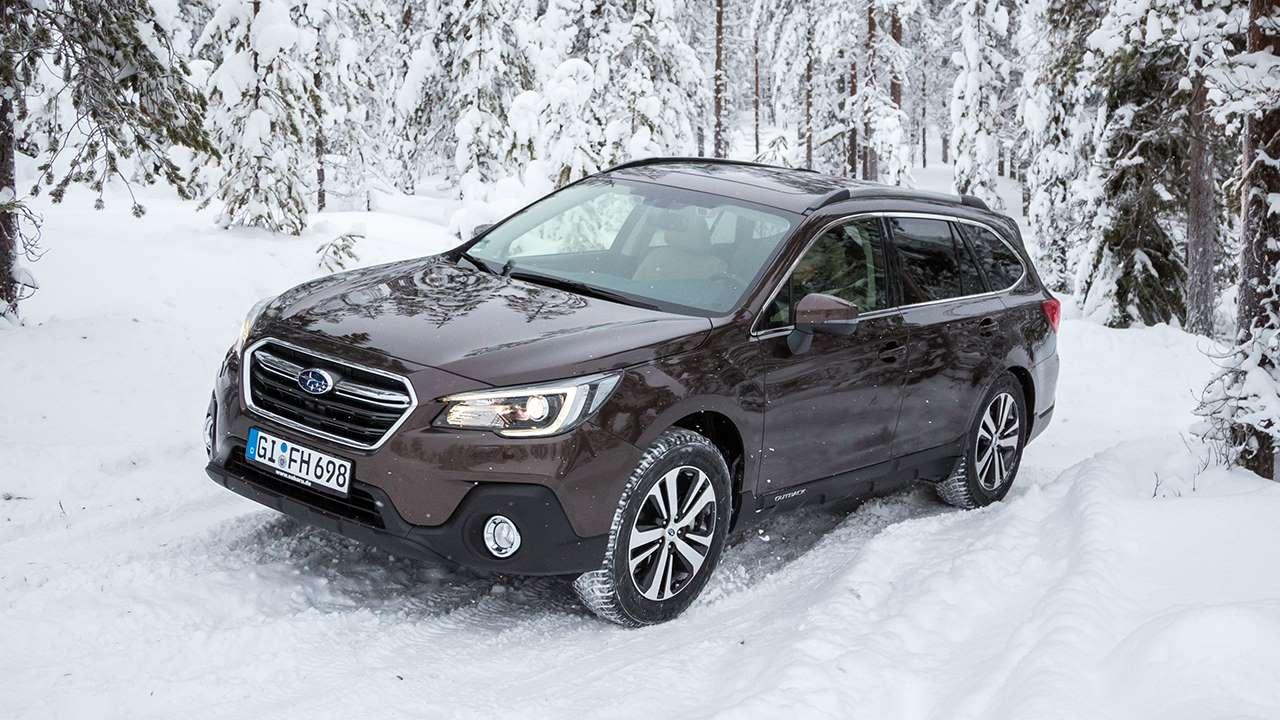Subaru Аутбек на бездорожье