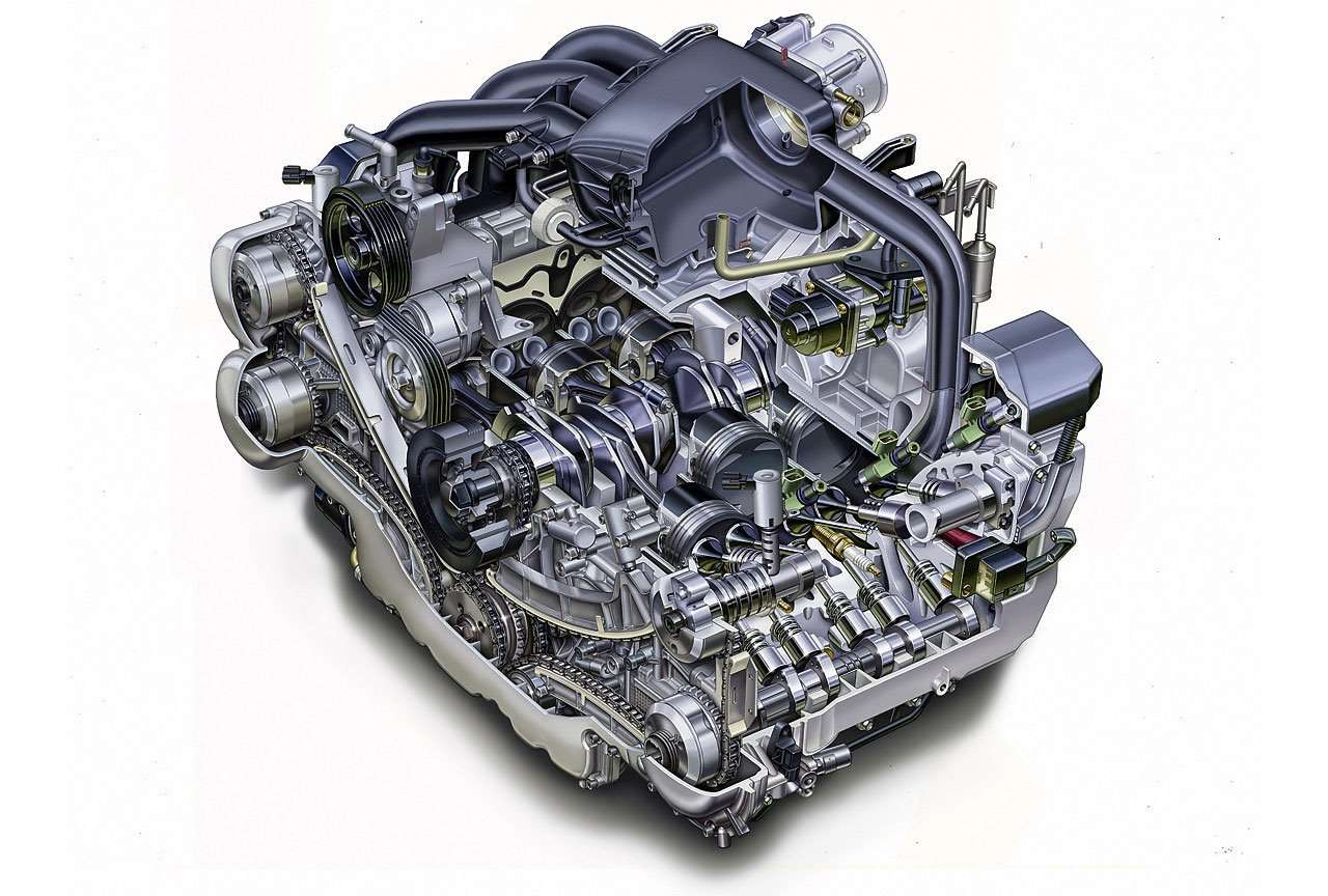 Фото двигателя Субару Трибека Б9