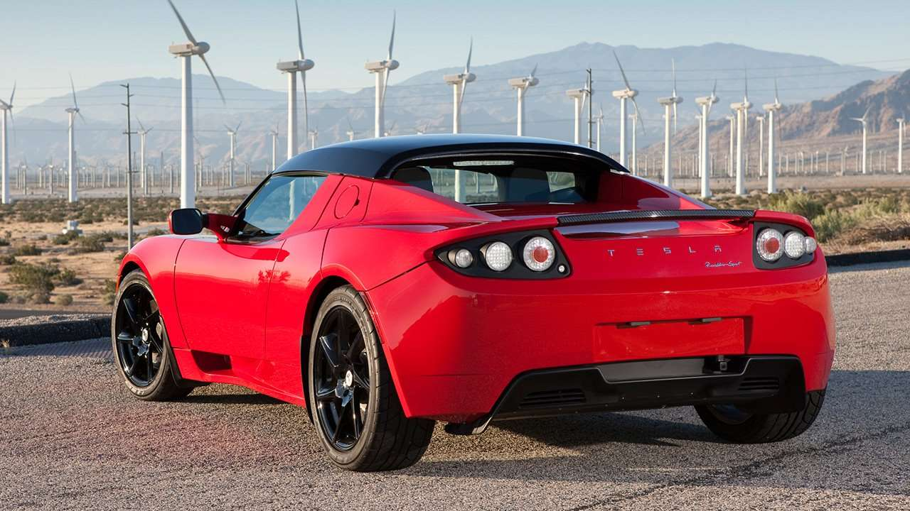 Tesla Roadster (2008-2012) фото сзади
