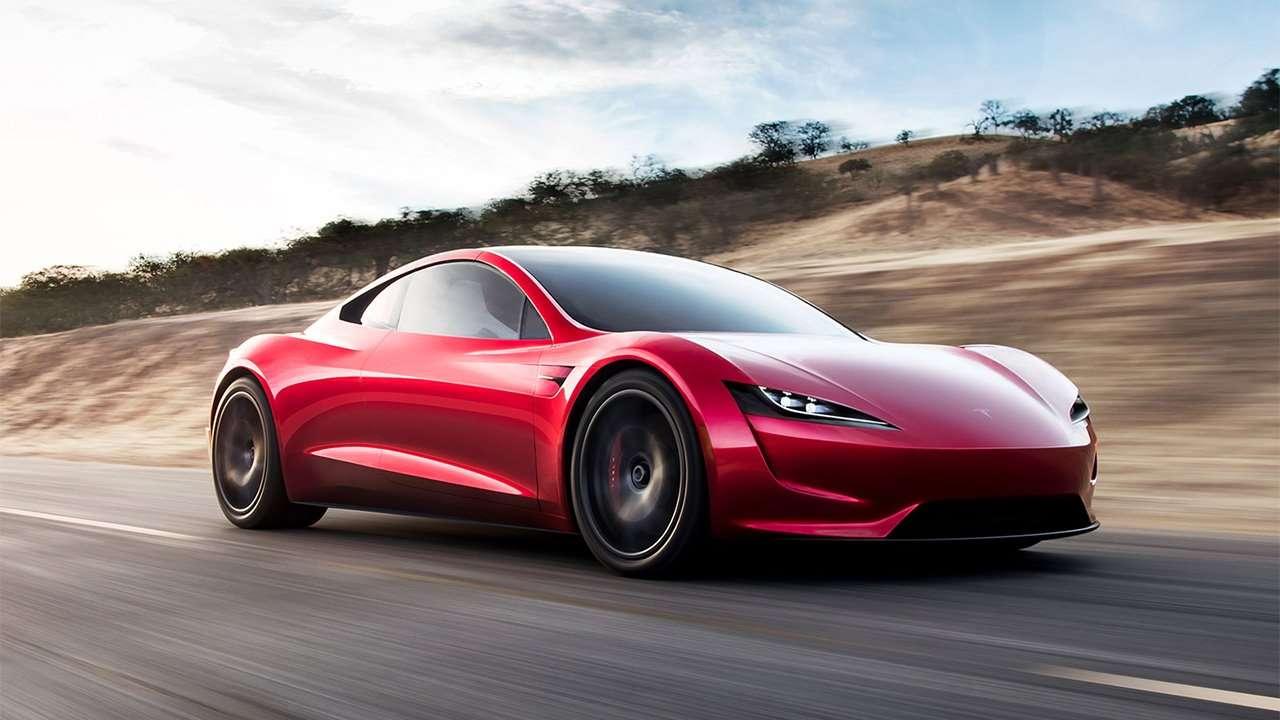 Tesla Roadster 2020 фото спереди