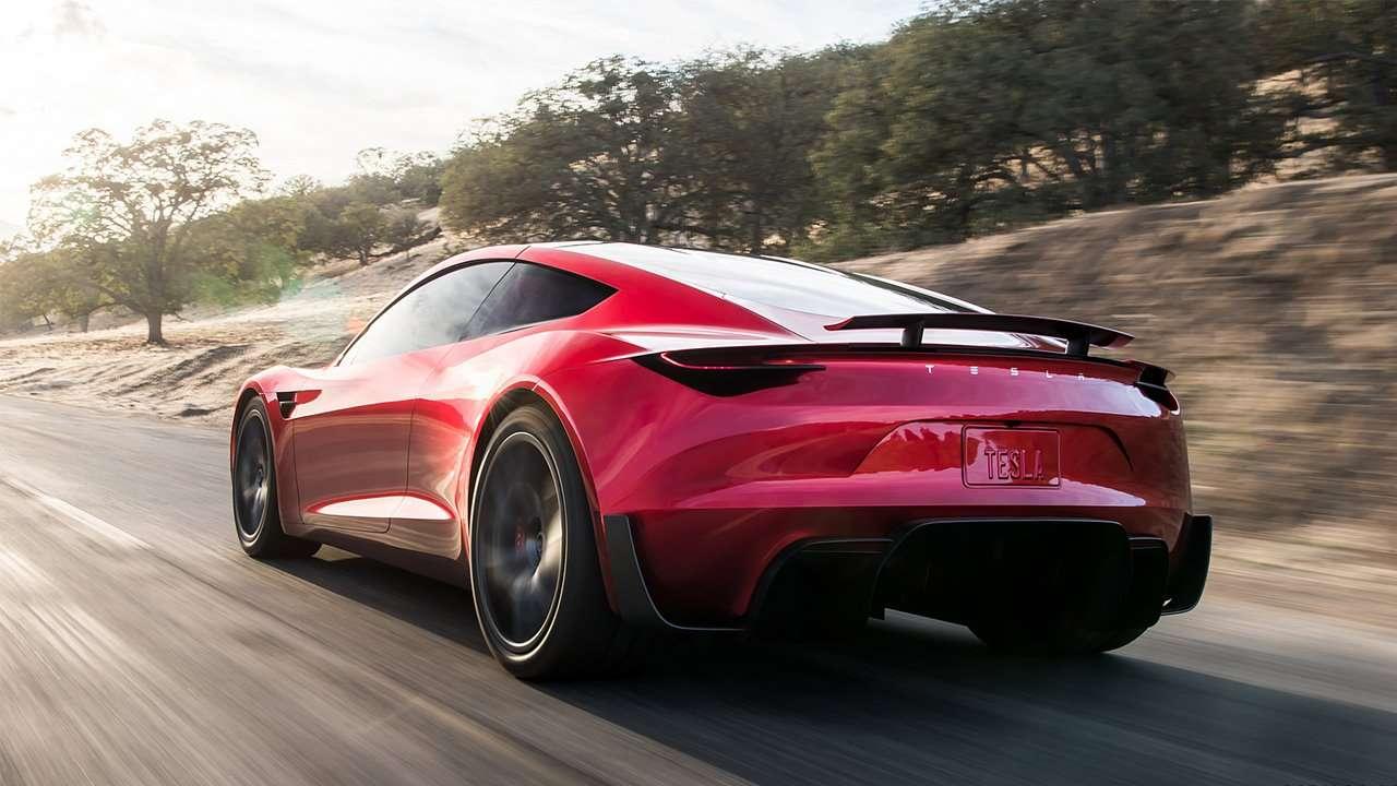Tesla Roadster 2020 фото сзади