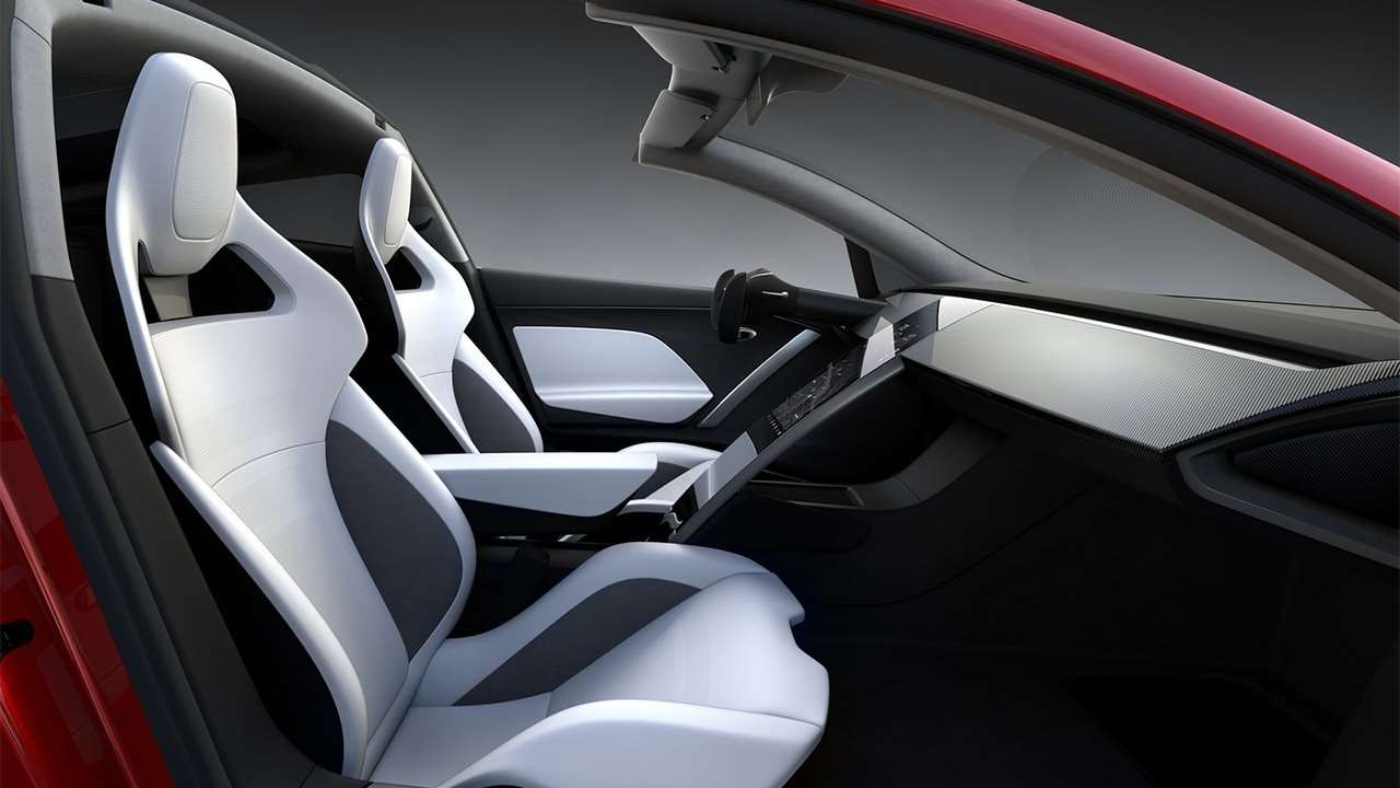 Фото кресел Tesla Roadster 2020