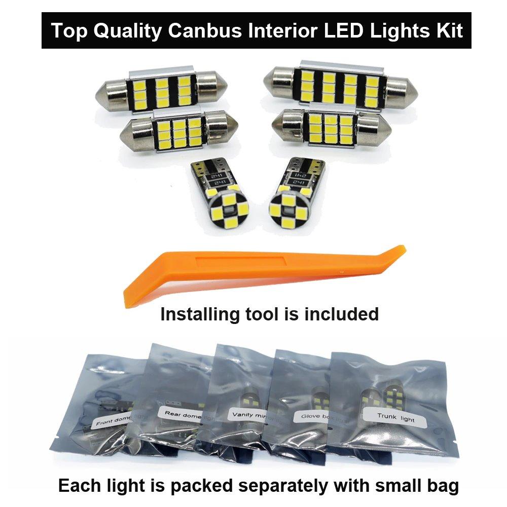 Комплект диодных лампочек освещения салона
