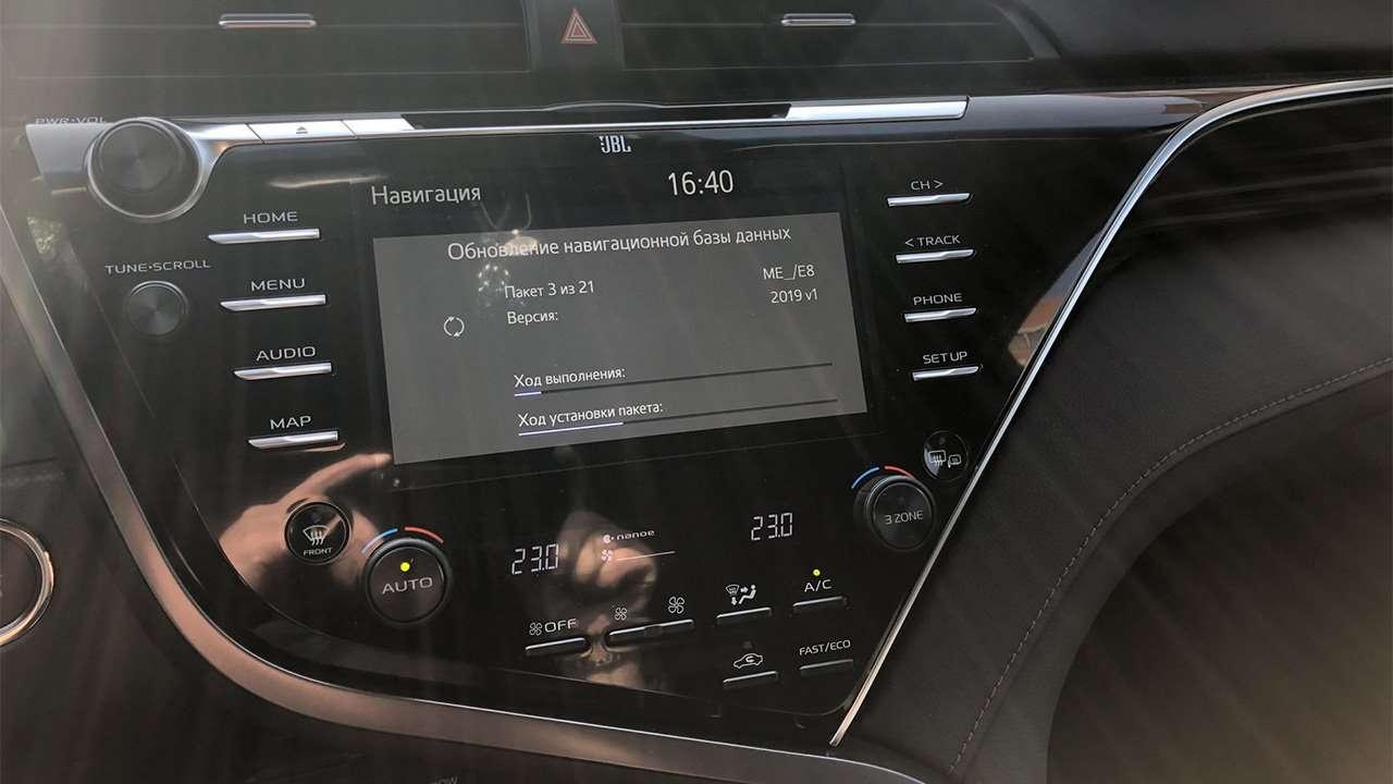 Мультимедиа новой Camry XV70