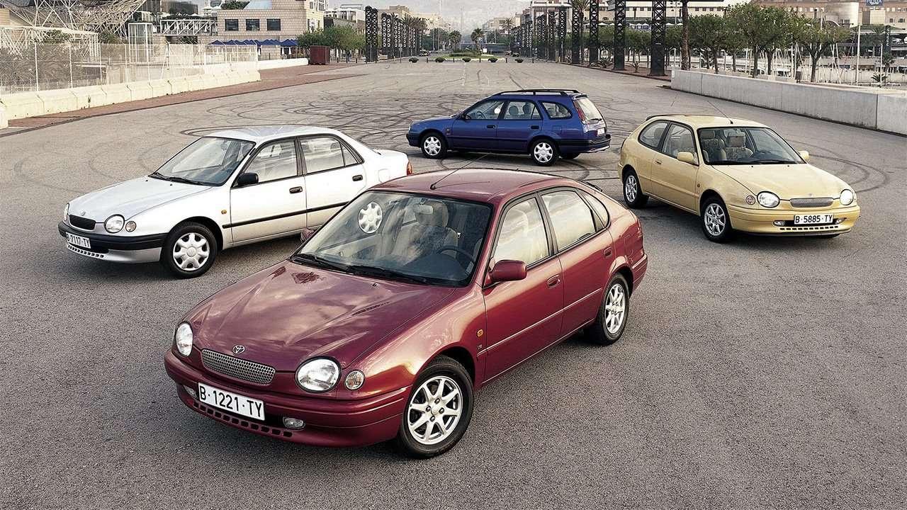 Разные кузова Тойоты Королла Е110