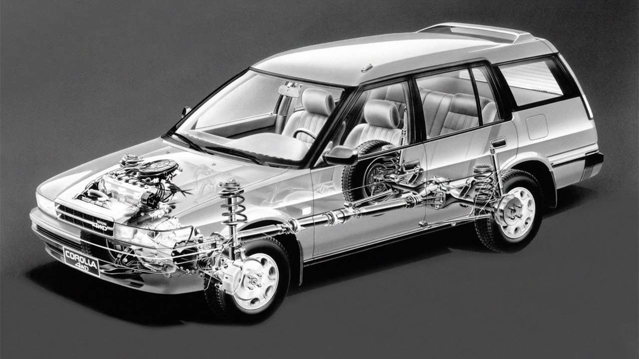 Трансмиссия и подвеска Corolla E90