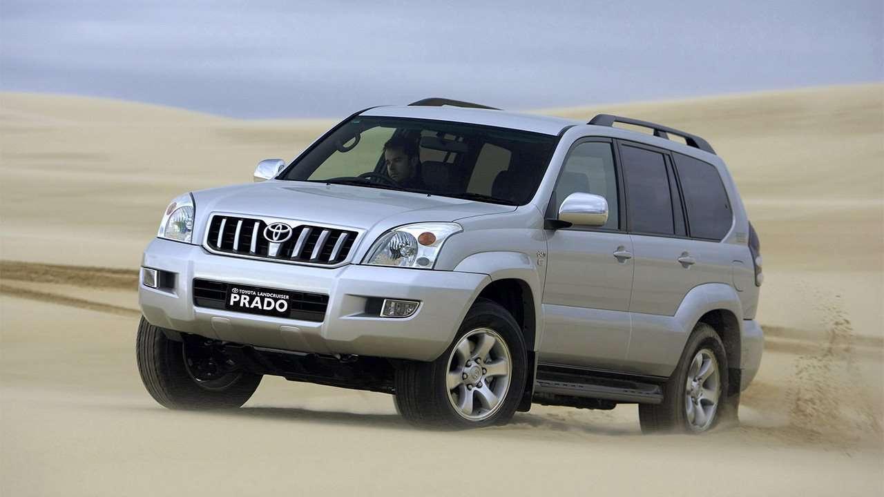 Toyota Land Cruiser Prado 120 на песках