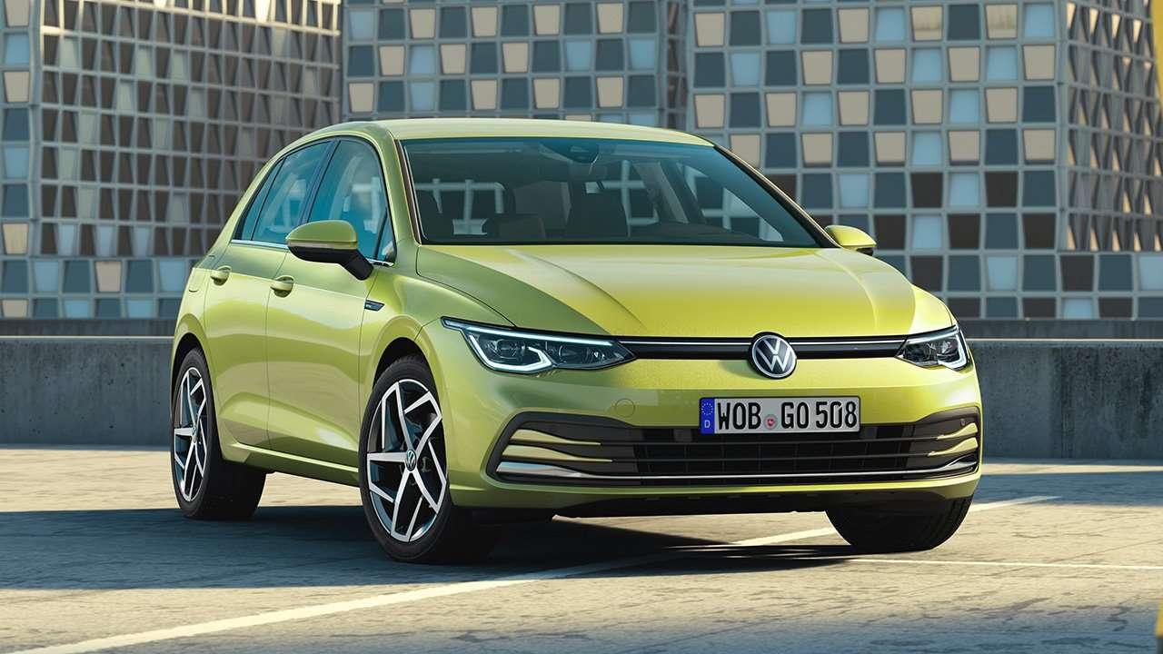 Передняя часть восьмого Volkswagen Golf