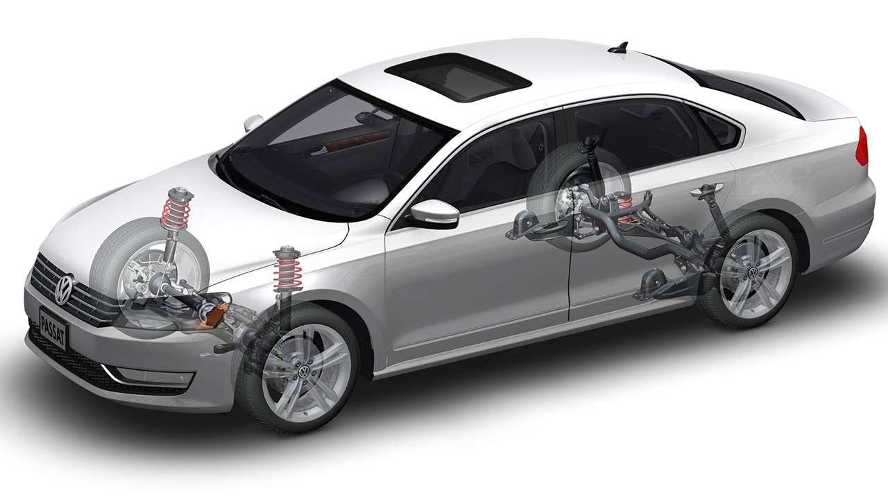 Схема подвески Volkswagen Passat B7