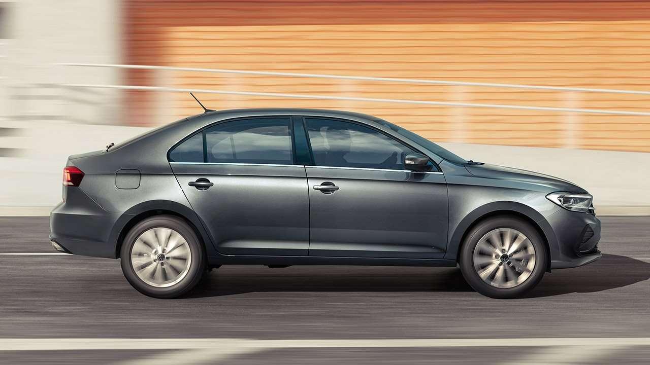 Фото Volkswagen Polo 2020-2021 сбоку