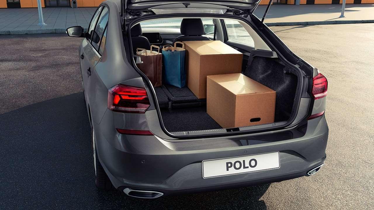 Багажник нового Volkswagen Polo