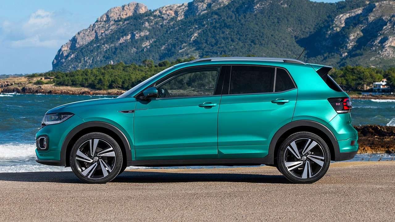 Фото Volkswagen T-Cross 2019-2020 сбоку