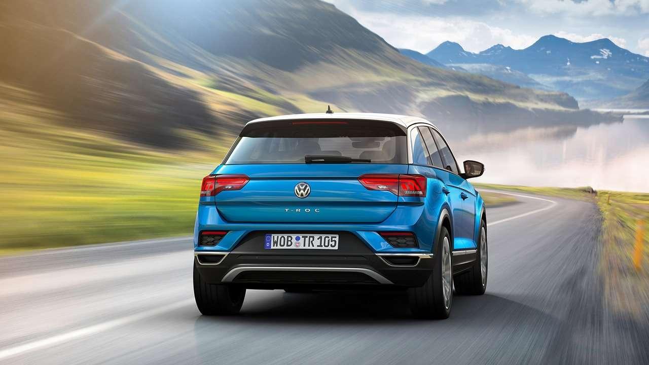 Volkswagen T-Roc фото сзади