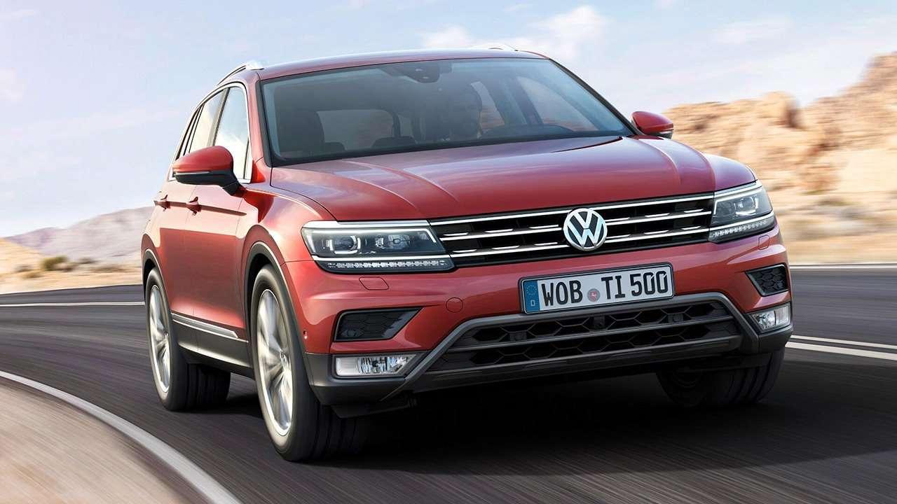 Volkswagen Tiguan 2020-2021 морда