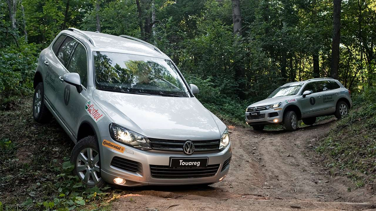 Volkswagen Туарег II на бездорожье